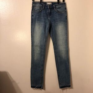 Free People jeans with bottom cuff slit